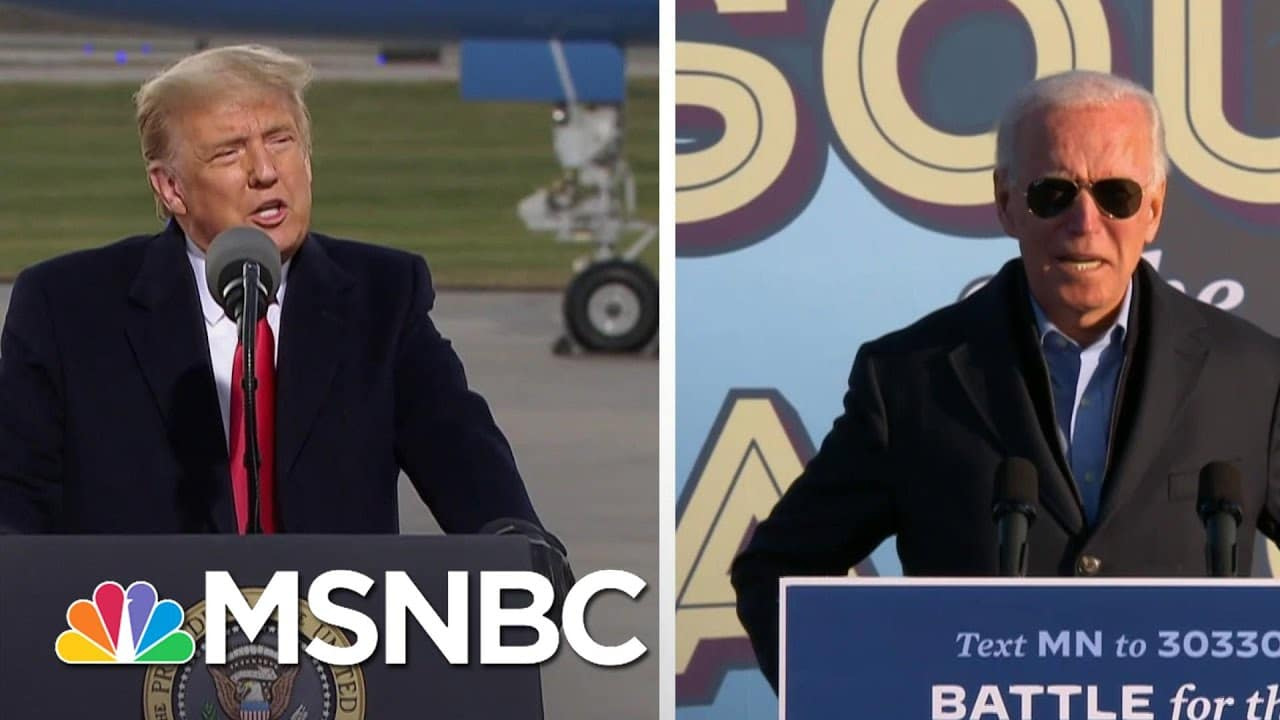 Trump, Biden On The Attack In Midwest As Virus Outbreaks Soar | The 11th Hour | MSNBC 9