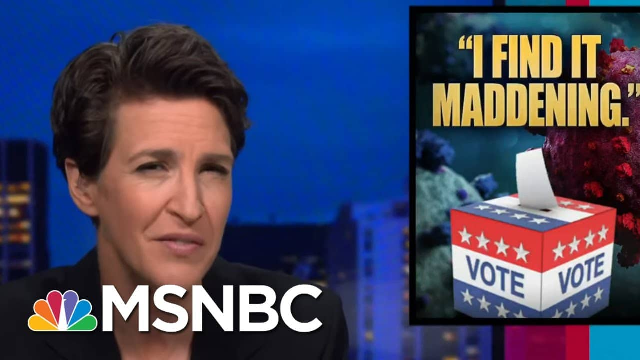 Take Heart That Americans Still Believe In Democracy; Early Vote Numbers Prove It | Rachel Maddow 7