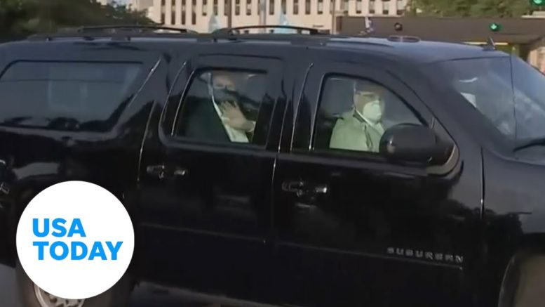 Trump leaves hospital for surprise visit | USA TODAY 1
