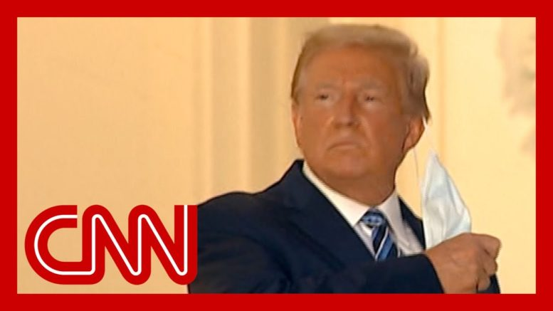 Contagious President Trump removes mask at White House 1