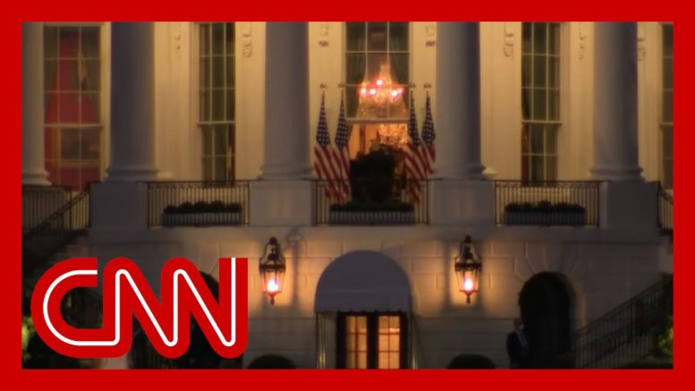 Infected Trump re-shoots entrance into White House with camera crew 1