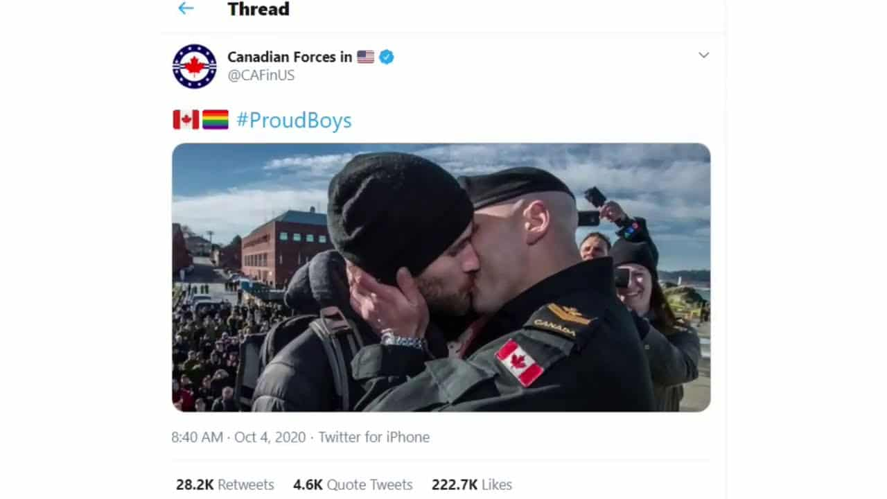 LGBTQ community hijack #ProudBoys on Twitter with photos of gay love 1