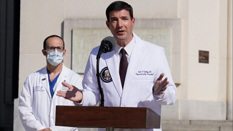 White House physician Sean Conley dodges questions about U.S. President Trump's health 1