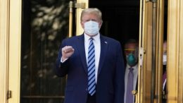 Trump ignores reporter questions as he leaves hospital after being treated for COVID-19 9