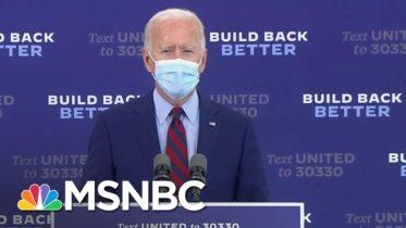 Joe Biden Urges Trump To 'Listen To The Scientists' And 'Support Masks' | MSNBC 6