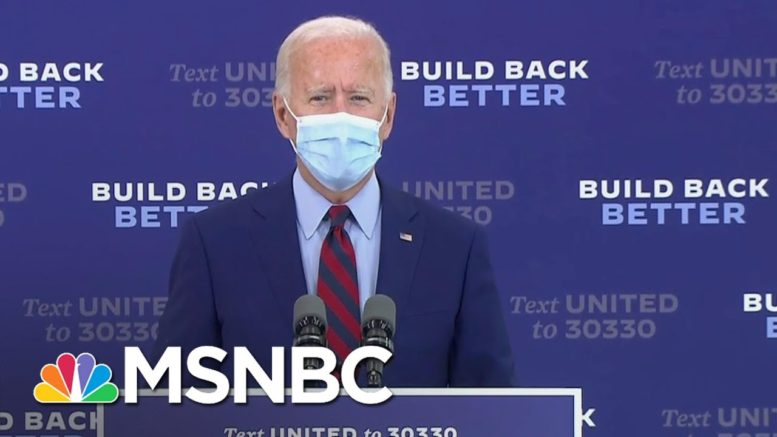 Joe Biden Urges Trump To 'Listen To The Scientists' And 'Support Masks'   MSNBC 1