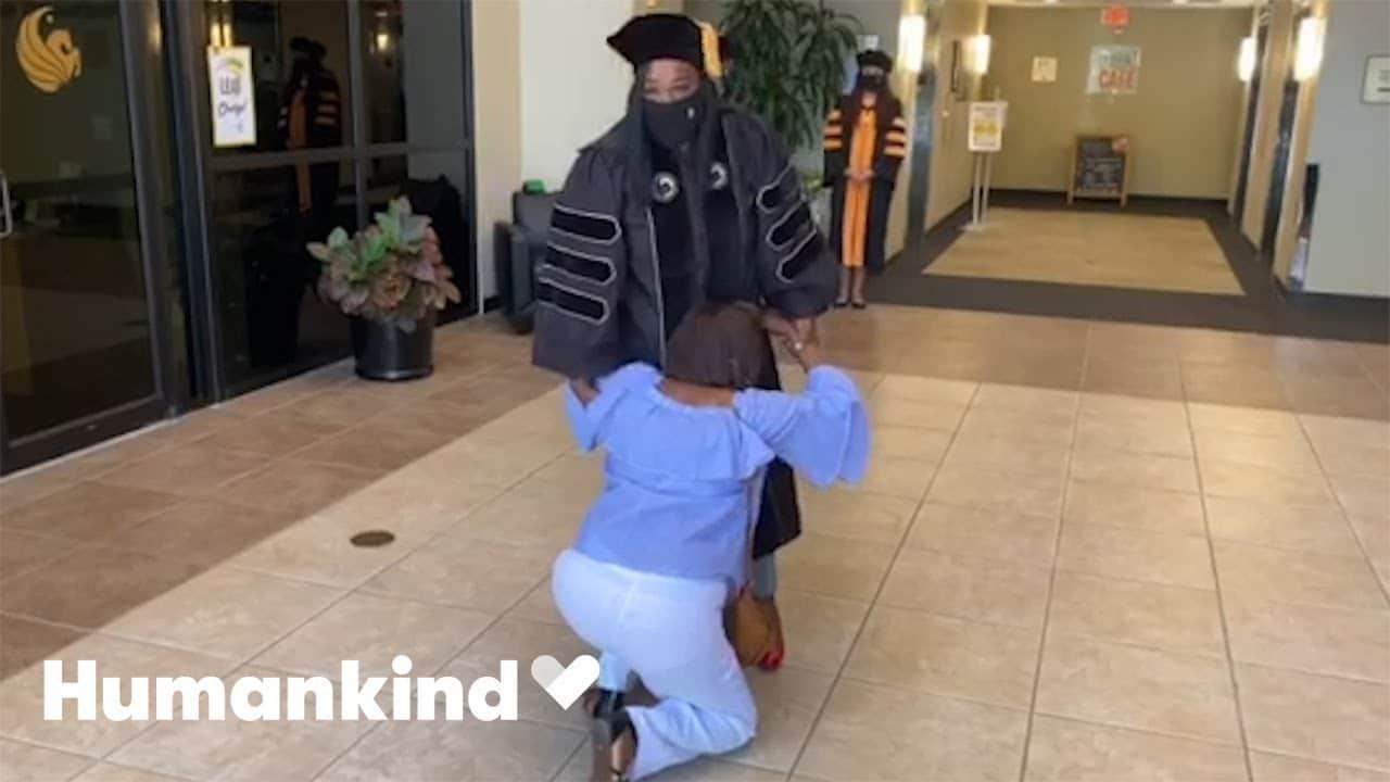 Daughter earns secret doctorate for hardworking mom | Humankind 1