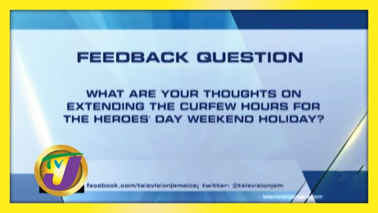TVJ News: Feedback Question - October 2 2020 1