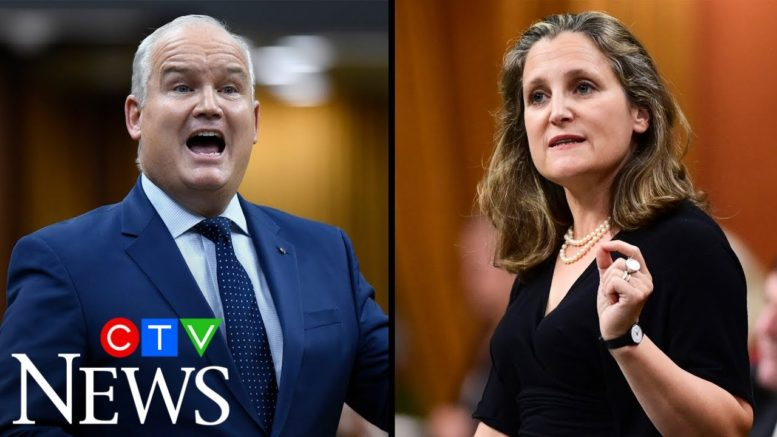 Freeland and O'Toole clash over COVID-19 response and aid for Canada's energy sector 1