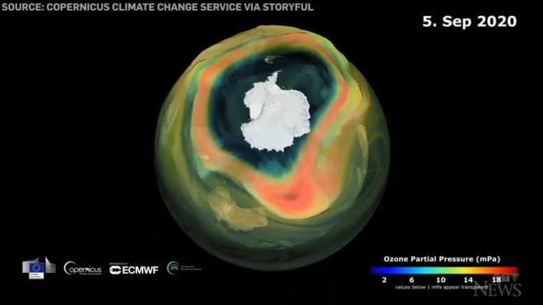 2020 ozone hole over Antarctica reaches its maximum size 1