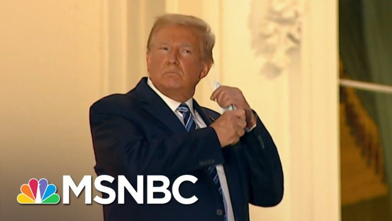 Trump Returns To White House Infected With COVID-19 | The 11th Hour | MSNBC 1
