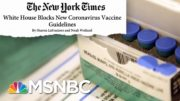 NYT Reports FDA Proposed Stricter Guidelines For COVID-19 Vaccine | Andrea Mitchell | MSNBC 4