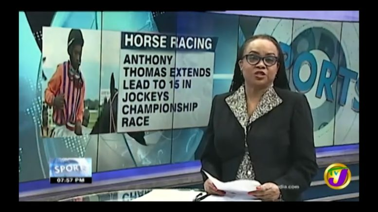 Anthony Thomas Extends Lead to 15 in Jockeys Championship Race - October 5 2020 1
