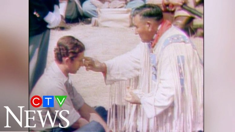 Archive: Prince Charles becomes Chief Red Crow in Alberta 1