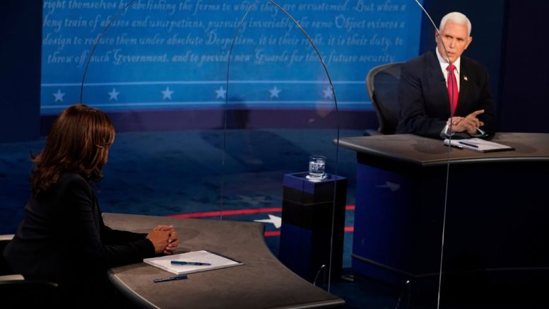 """Is climate change an """"existential threat"""" to America? Harris and Pence debate 1"""