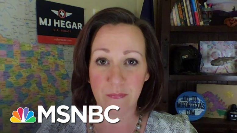 MJ Hegar: The More People Learn About John Cornyn, 'The Lower His Approval Rating Goes' | MSNBC 1