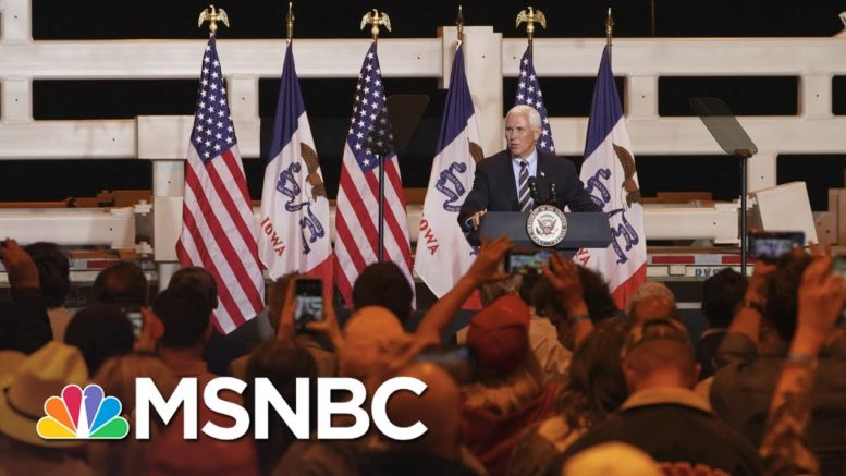 By White House Timeline, Pence Possibly Exposed To Covid By Trump | Rachel Maddow | MSNBC 1