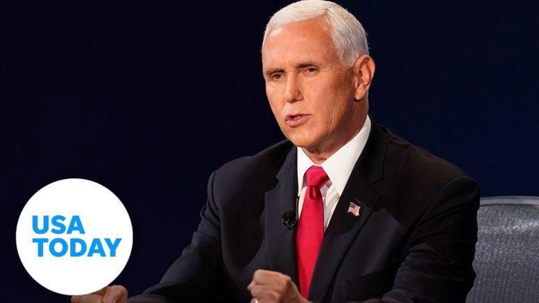 Vice President Pence and Sen. Kamala Harris discuss President Trump's tax returns | USA TODAY 1