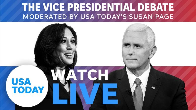 Vice Presidential Debate 2020 LIVE: Mike Pence and Kamala Harris face off in SLC   USA TODAY 1