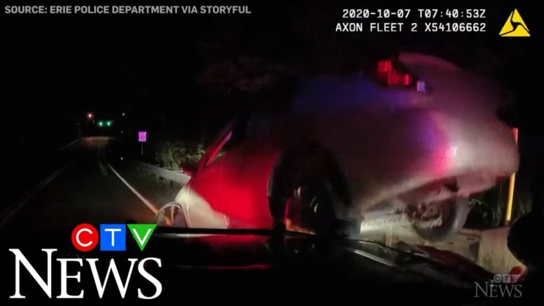 Caught on Cam: Suspect drives over hood of patrol vehicle 1