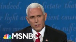 Fact-Checking Pence's Claims At The Vice Presidential Debate | Craig Melvin | MSNBC 5