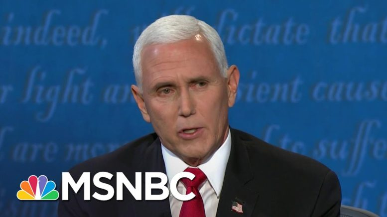 Fact-Checking Pence's Claims At The Vice Presidential Debate | Craig Melvin | MSNBC 1