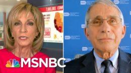 Dr. Fauci: 'No Doubt' Coronavirus Far More Serious Than Seasonal Flu | Andrea Mitchell | MSNBC 9