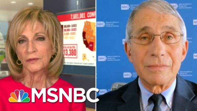 Dr. Fauci: You Should Have Mask Wearing, Distancing In 'Any Situation, Without Exception' | MSNBC 1