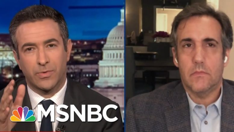 Trump Insider Cohen Exposes Plan To Jail Rivals In 2020 | The Beat With Ari Melber | MSNBC 1
