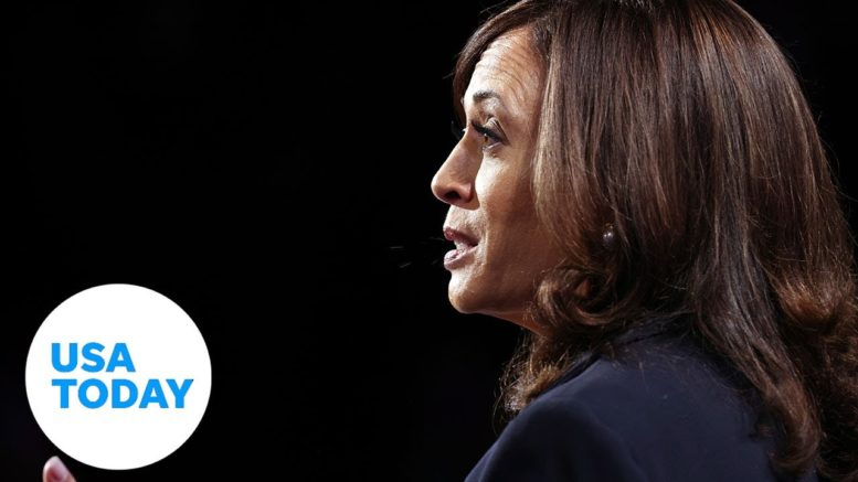 Sen. Kamala Harris defends her law enforcement record during the VP debate | USA TODAY 1