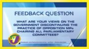 TVJ News: Feedback Question - October 7 2020 5