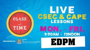CSEC EDPM 10:35AM-11:10AM | Educating a Nation - October 8 2020 6