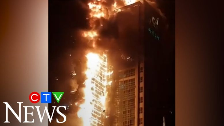 More than 90 people were taken to hospital after a fire broke out at a high-rise in South Korea 1