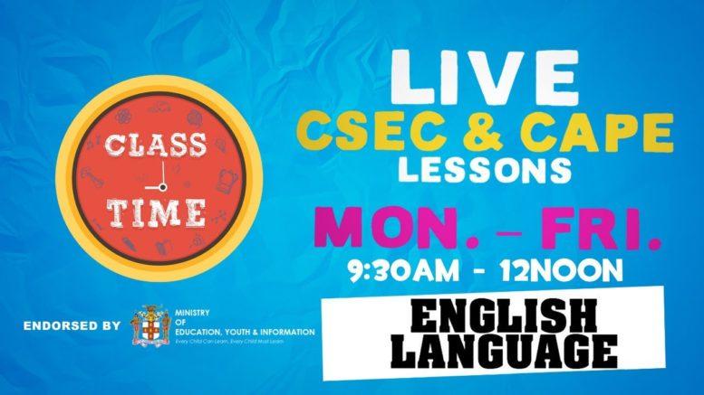 CSEC English Language 9:45AM-10:25AM | Educating a Nation - October 9 2020 1