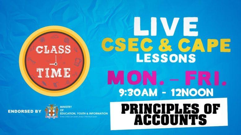 CSEC Principles of Accounts 10:35AM-11:10AM | Educating a Nation - October 9 2020 1
