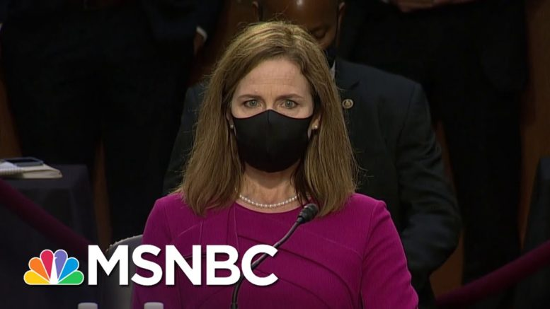 Democrats Make Obamacare Central Issue For Amy Coney Barrett Hearing   MSNBC 1