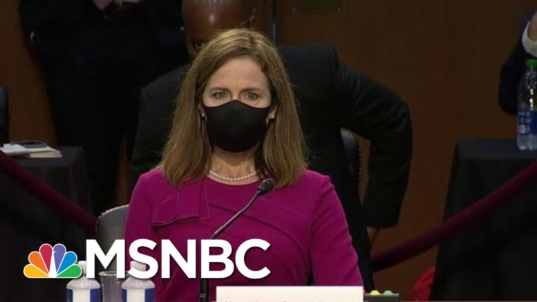 Chuck Rosenberg: 'There Is A Real Question About Recusal' In Amy Coney Barrett's Hearings | MSNBC 1