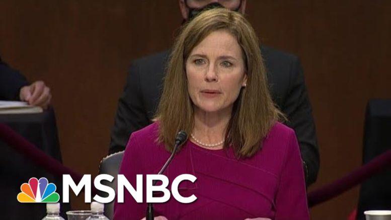 'Sham!': Trump SCOTUS Pick Faces Tough Obamacare Test In Middle Of Pandemic   MSNBC 1