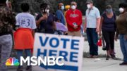 Georgia Officials Claim Voter Enthusiasm Is Behind Hours-Long Lines | The 11th Hour | MSNBC 3