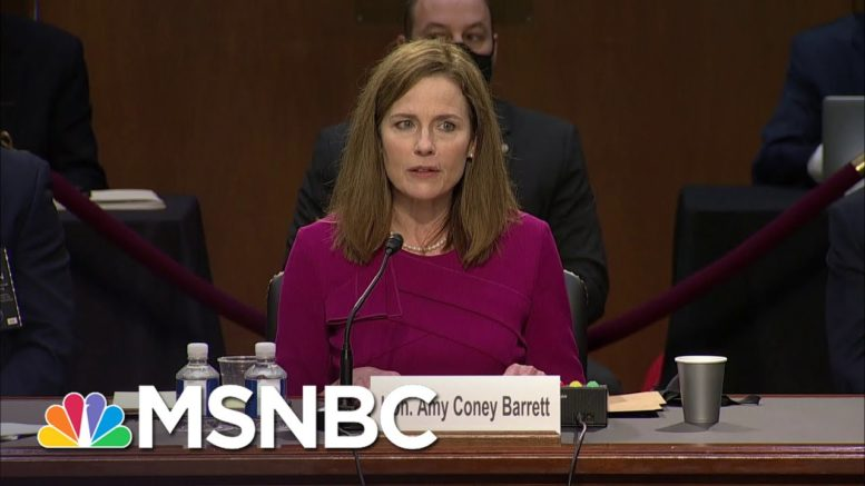 Amy Coney Barrett Fails To Fully Disclose Some Past Anti-Abortion Activism | Rachel Maddow | MSNBC 1