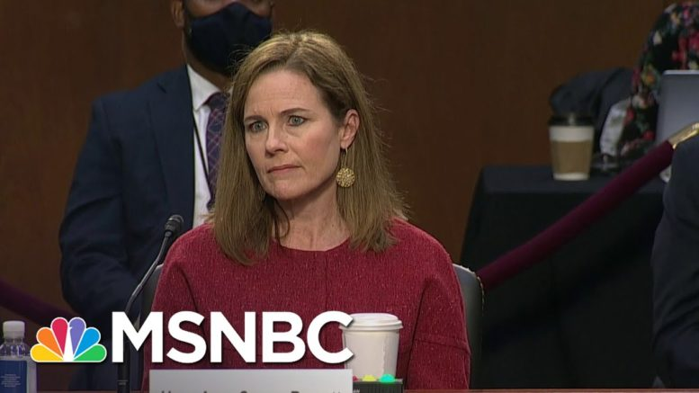 Barrett: 'I Am Not Hostile' To The Affordable Care Act | MSNBC 1