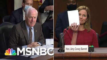 Republican Senator Asks Amy Coney Barrett To Show Her Blank Notepad At Confirmation Hearing | MSNBC 6