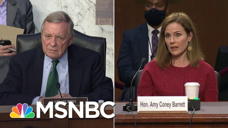 Durbin Questions Barrett On Difference Between A Felon's Right To Vote Or Own A Gun | MSNBC 1