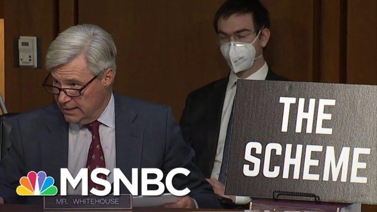 Sen. Whitehouse Gives Presentation On 'Dark Money' Influence On Supreme Court Nomination   MSNBC 1