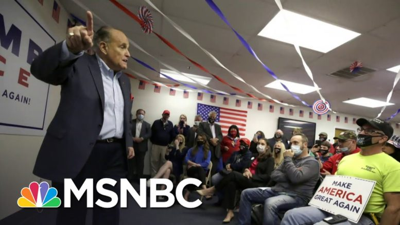 Rudy Giuliani On Covid-19: 'People Don't Die Of This Disease Anymore' | All In | MSNBC 1