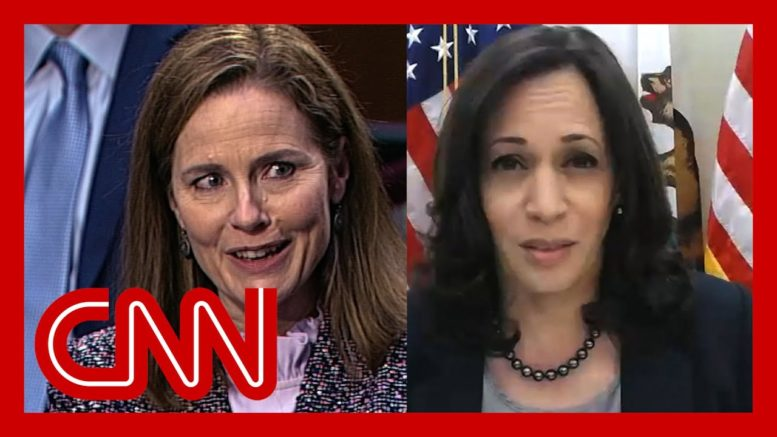 Watch what happened when Harris asked Barrett about climate crisis 1