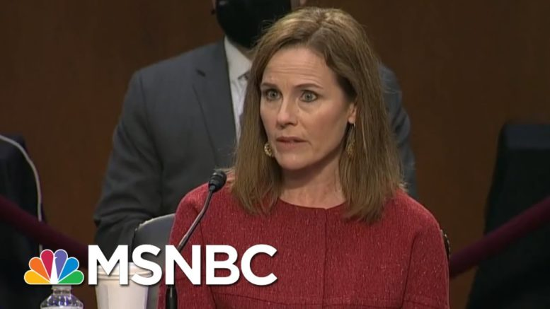 Barrett Takes 'Cautious' Approach On Election Question | Way Too Early | MSNBC 1