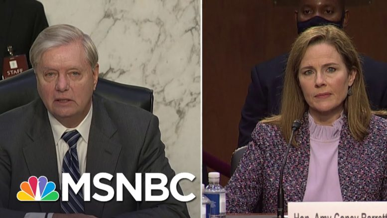Barrett Claims Laws To Protect Integrity Of Ballot Box Are 'Subject To Litigation' | MSNBC 1