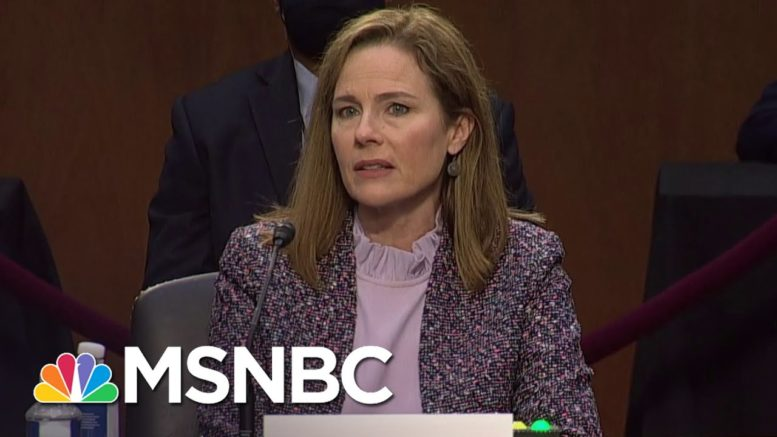Feinstein Says She Is Really Impressed With Amy Coney Barrett's Definition Of Severability   MSNBC 1