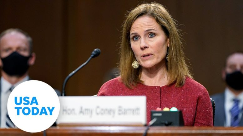 Amy Coney Barrett on recusal if 2020 election outcome hits Supreme Court | USA TODAY 1